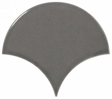 плитка настенная scale fan dark grey 10,6х12 см EQUIPE 21979