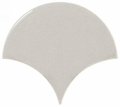 плитка настенная scale fan light grey 10,6х12 см EQUIPE 21978