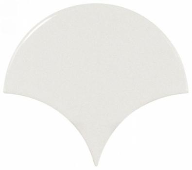плитка настенная scale fan white 10,6х12 см EQUIPE 21968