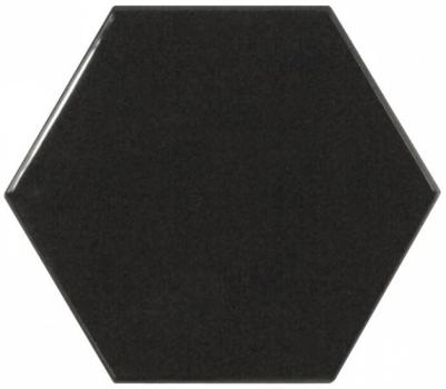 плитка настенная scale hexagon black 12,4х10,7 см EQUIPE 21915