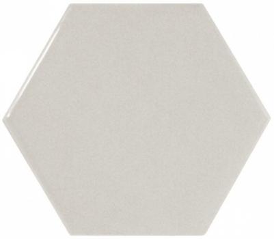 плитка настенная scale hexagon light grey 12,4х10,7 см EQUIPE 21912