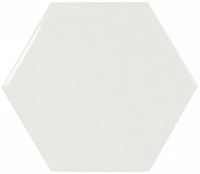 плитка настенная scale hexagon white 12,4х10,7 см EQUIPE 21911