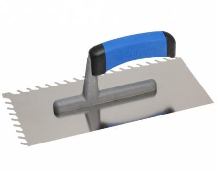 Шпатель KUBALA для безпустотной укладки крупных плит | Терка зубчатая 8 мм