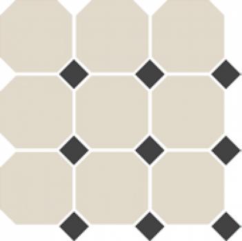 Керамогранит 4416 OCT14-1Ch White OCTAGON 16/Black Dots 14 30x30