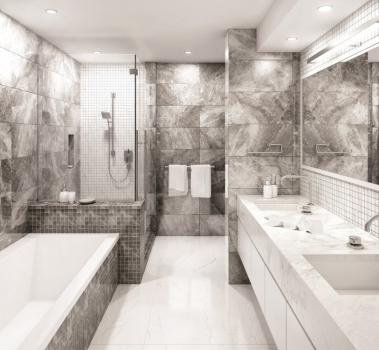 Мозаика Grey 30x30 см, Black & White