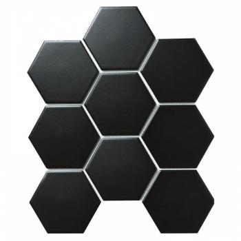Керамическая мозаика Hexagon big Black Matt (FQ83000) 256х295х6