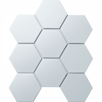 Керамическая мозаика Hexagon big White Matt (SBH1005) 256х295х6
