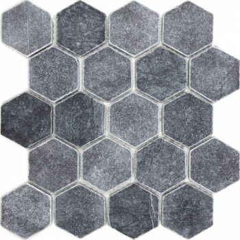 Мозаика, натур. мрамор Hexagon VBs Tumbled 64X74 (305X305X8) матовая