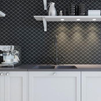 Керамическая мозаика Latern Black Matt (DL4810) 246х280х6.5
