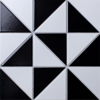 Треугольная мозаика из керамогранита Tr. Chess Matt