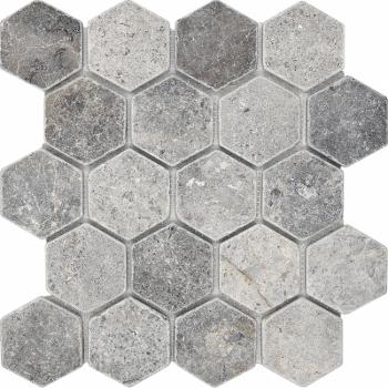 Мозаика Hexagon VLg Tumbled 64X74 (305X305X8), натур. мрамор