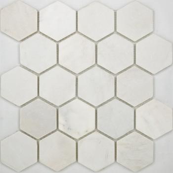 Мозаика Hexagon VMw Tumbled 64X74 (305X305X8), натур. мрамор