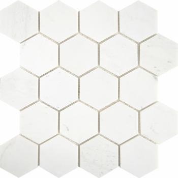 Мозаика Hexagon VMwP 64X74 (305X305X8), натур. мрамор