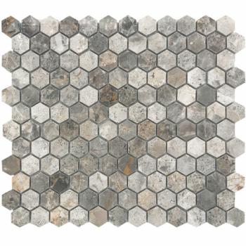 Мозаика Hexagon VLgP 23X23 (300X300X8), натур. мрамор