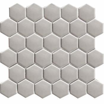 Кер. мозаика Hexagon small Grey Glossy (MT20116) 271х282х6