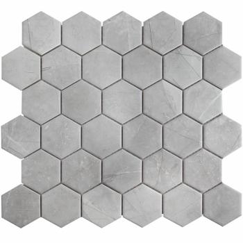 Кер. мозаика Hexagon small Marble Grey Matt (PMMT82457) 271х282х6