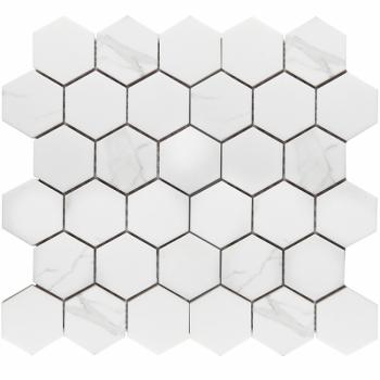 Кер. мозаика Hexagon small Carrara Matt  (PMMT83017) 265х278х6