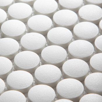 Кер. мозаика Penny Round White Antislip. (JNK81011) 315х309х6