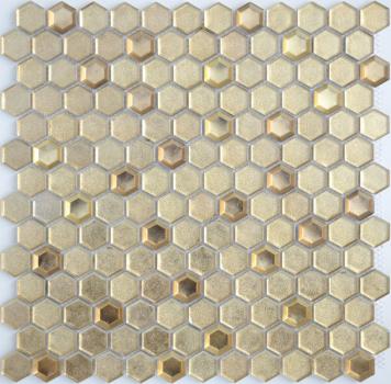 Мозаика LeeDo Aureo grani hexagon 30х30x0,6 см (чип 23x13x6 мм)