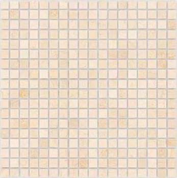 botticino матовая 15x15x4 мм (лист 30,5х30,2 см)