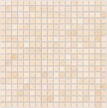 Botticino полированная 15x15x4 мм (лист 30,5х30,2 см)