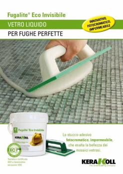 "Fugalite Eco INVISIBLE KERAKOLL 3 кг - Прозрачная двухкомпонентная эпоксидная затирка ""Хамелеон"""