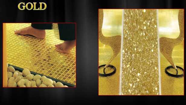 Блестки SHINNING GOLD - добавка к затирке Litochrom Starlike