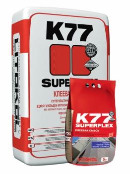 Клей цементный SUPERFLEX K77 серый, 25 кг