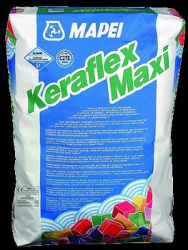 Клей Keraflex Maxi S1 25 кг - для камня и керамогранита больших форматов и полов с подогревом, серый