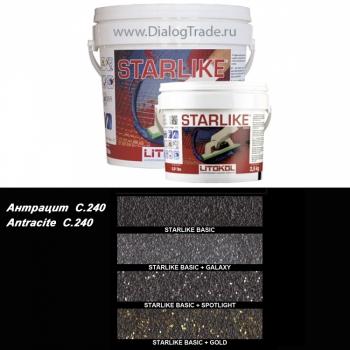 Затирка эпоксидная LITOKOL LITOCHROM STARLIKE C.240 Antracite