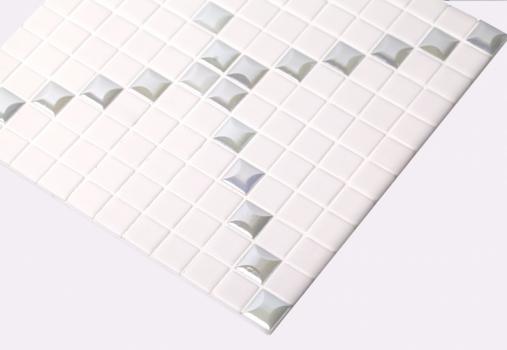Мозаика Mixed Trento Edna White (на сетке)  Белый