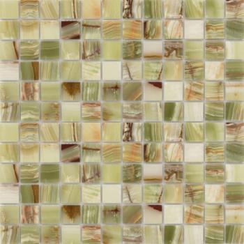 onice jade verde полированная 23x23x7 мм  (лист 29,8х29,8 см)