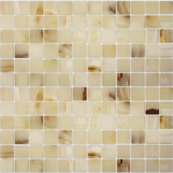 Мозаика CARAMELLE Pietrine Onice Jade Bianco полированная 29,8x29,8х0,7 см (чип 23х23х7 мм)