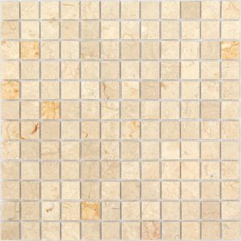 Мозаика CARAMELLE Pietrine Botticino полированная 29,8x29,8x0,4 см (чип 23x23x4 мм)