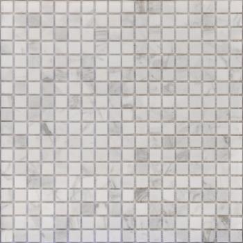 Мозаика CARAMELLE Pietrine Dolomiti Bianco матовая 30,5x30,5х0,4 см (чип 15x15x4 мм)