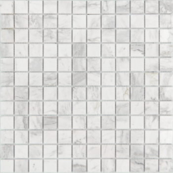 Мозаика CARAMELLE Pietrine Dolomiti Bianco полированная 29,8x29,8x0,4 см (чип 23x23x4 мм)