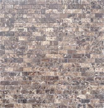 Мозаика CARAMELLE Pietrine Emperador Dark полированная 29,8x29,8x0,4 см (чип 23x48x4 мм)