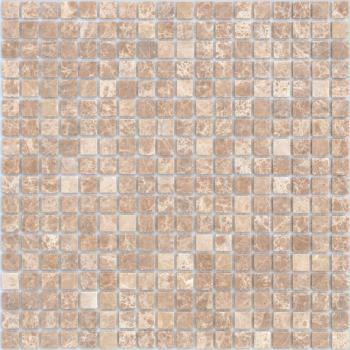 Мозаика CARAMELLE Pietrine Emperador Light матовая 30,5x30,5х0,4 см (чип 15x15x4 мм)