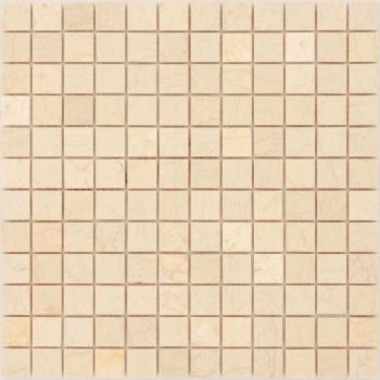 Мозаика CARAMELLE Pietrine Botticino полированная 29,8x29,8х0,7 см (чип 23х23х7 мм)