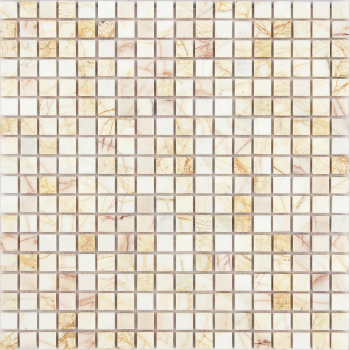 Мозаика CARAMELLE Pietrine Ragno Rosso полированная 30,5x30,5x0,7 см (чип 15x15x7 мм)