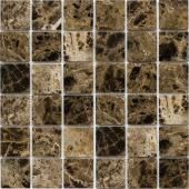 Мозаика 48X48 Dark Emperador Polished (JMST055) 305x305x4, натур. мрамор