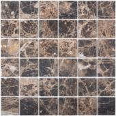 Мозаика 48X48 Dark Emperador Matt (JMST071) 305x305x8, натур. мрамор