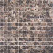 Мозаика 20X20 Dark Emperador Matt (JMST070) 305x305x8, натур. мрамор