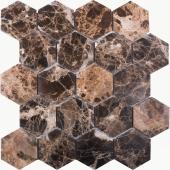 Мозаика Hexagon Dark Emperador Polished 63x63 (JMST6303P) 282x260x8, натур. мрамор