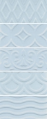 Авеллино голубой структура mix 7,4*15