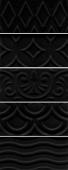Авеллино черный структура mix 7,4*15