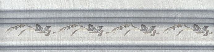Бордюр Багет Кантри шик серый декорированный 20*5