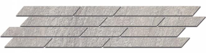 Бордюр Гренель серый мозаичный 46,8*9,8