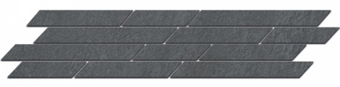 Бордюр Гренель серый темный мозаичный 46,8*9,8
