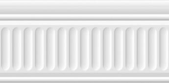 Бордюр Карнавал в Венеции белый структурированный 20*9.9
